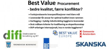 Best Value Procurement: Bedre kvalitet, færre konflikter?